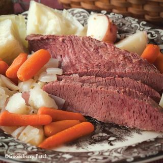 Classic Corned Beef & Cabbage recipe from 101 Stovetop Suppers | Goosebery Patch eBook just $2.99 now thru 3/16/14