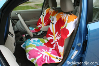 reinventing the beach towel car seat covers gooseberry patch. Black Bedroom Furniture Sets. Home Design Ideas