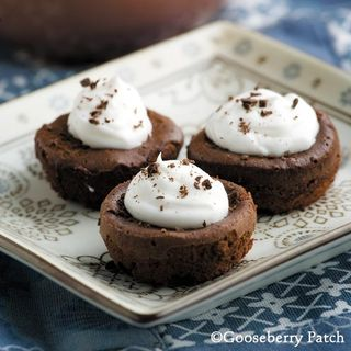 Best Potluck Desserts: Mini Mousse Cupcakes recipe from Gooseberry Patch