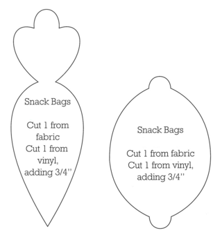 Cut-out patterns for DIY Lunch Bags from Gooseberry Patch