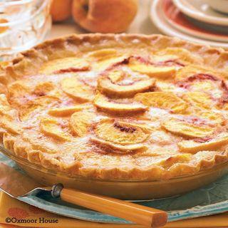Gooseberry Patch Open-Face Peach Pie Recipe