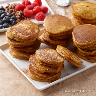 Cinnamon-Pumpkin Pancakes from Delicious Recipes for Diabetics | Just $2.99 from Gooseberry Patch this week!