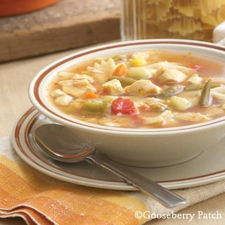 Chicken Noodle Gumbo from 101 Soups, Salads and Sandwiches | Gooseberry Patch cookbook just $1.99 this week!