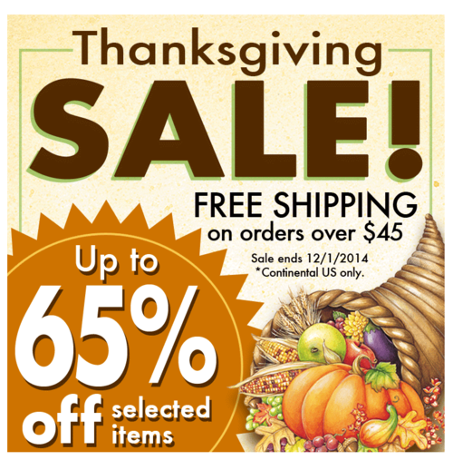 One more day for our Thanksgiving SALE!