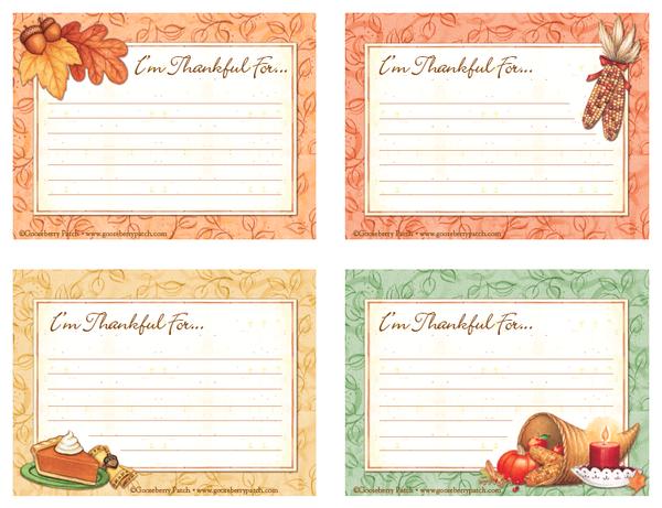 free download thanksgiving gratitude cards gooseberry patch. Black Bedroom Furniture Sets. Home Design Ideas