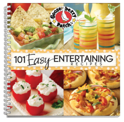 101 Easy Entertaining Recipes, a cookbook from Gooseberry Patch